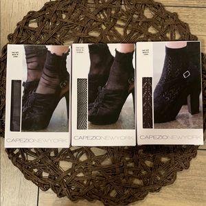 NWT 3 Capezio New York Anklet Socks